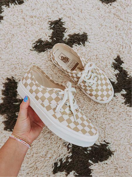 Fall Vans Checkered sneakers   #LTKshoecrush #LTKSeasonal