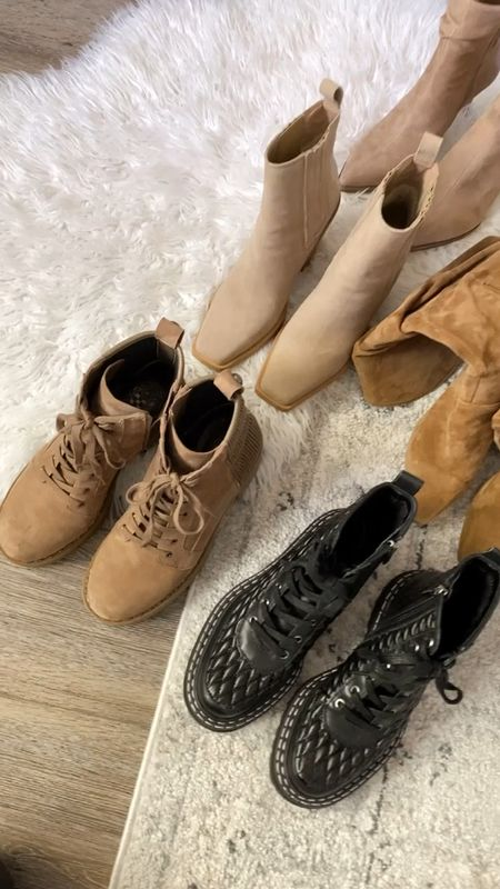 """Vince camuto boots for the win! Enjoy 25% off your purchase right now with code """"fall25"""" ! Boots, combat boots, fall shoes, fall style  #LTKHoliday #LTKsalealert #LTKshoecrush"""