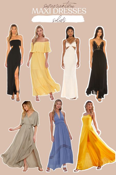 Maxi dress for summer are breezy and light, here are some solid options!   #LTKDay