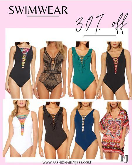 Swim sale on my one piece bathing suits on sale for 30% off! http://liketk.it/3hz9O #liketkit @liketoknow.it #LTKunder100 #LTKswim #LTKsalealert