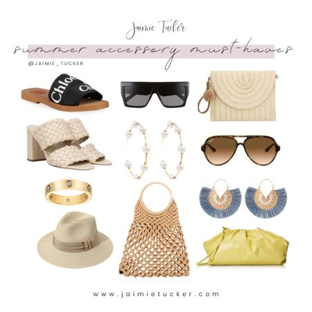 Summer Accessories!  Check out the hottest and most popular items. | #summeraccessories #summeroutfits #vacationoutfits #jewelry #goldaccessories #beachtote #braidedsandal #summersandals #vacationsandals #earrings #Amazon #founditonAmazon #JaimieTucker   #LTKstyletip #LTKSeasonal