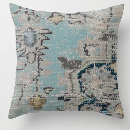 Love this gray and blue kilim inspired pillow http://liketk.it/3jn2R #liketkit @liketoknow.it @liketoknow.it.home #LTKhome #LTKsalealert #LTKstyletip