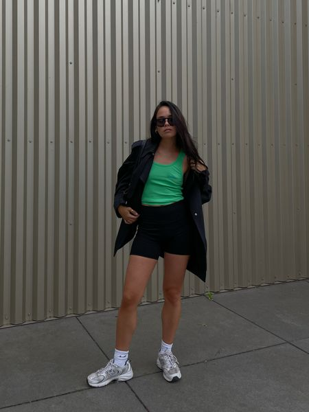 sporty in black and green   #LTKstyletip #LTKeurope