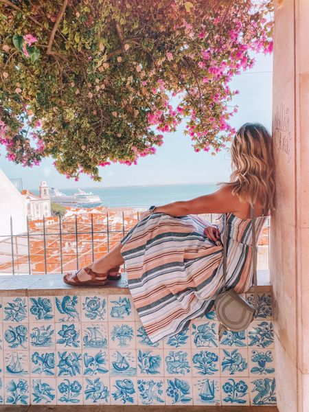 mentally I'm here….but actually I'm dealing with a bad case of the post vacation Sunday scaries coupled with jet lag 😬 send help  . . This free people dress is perfect for vacay! It's so comfy and breezy and bonus: no bra required.   #LTKtravel #LTKeurope