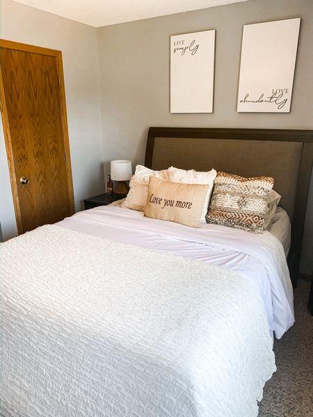 Master bedroom decor  http://liketk.it/2M3TH @liketoknow.it #liketkit   #LTKhome #LTKsalealert #LTKunder50  Home decor, bedroom ideas, bedroom decor, duvet cover, bedroom inspo