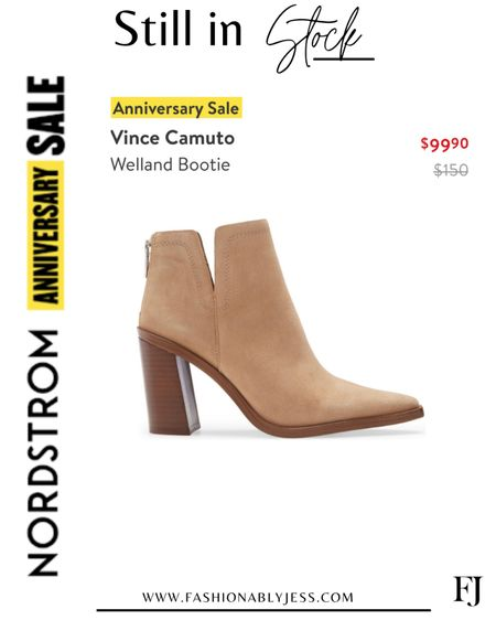 Can't believe these are still in stock! Will be a fall staple in my closet  #nsale Booties Fall shoes Fall style   #LTKshoecrush #LTKunder100 #LTKsalealert