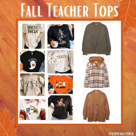 The coziest time of year should be celebrated with cute fall T-shirt's & cozy over pieces 🎉  #LTKunder100 #LTKworkwear #LTKSeasonal