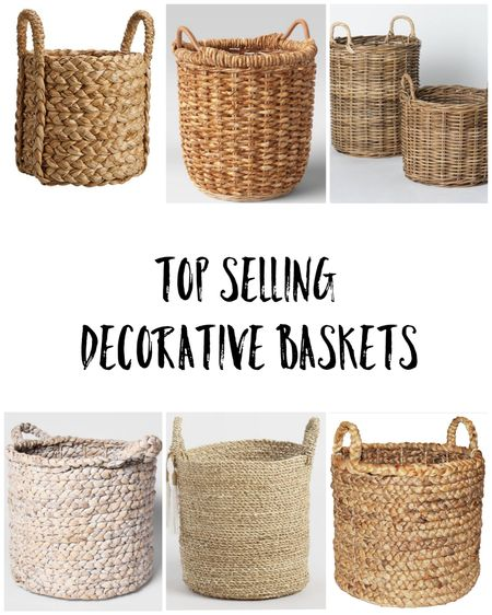Fall decor with baskets   #LTKsalealert #LTKhome #LTKunder50