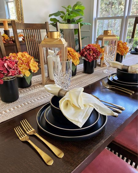 Our dining room has always been my favorite room of the house to decorate for any season #ad, and this year I'm setting the table for fall with #WalmartHome.   The flatware, the dinnerware set, the table runner, the faux flowers - there are so many good finds right now from @walmart 😍. #wowandnow  Head over to the blog today for more - www.mystylediaries.com.   #LTKSeasonal #LTKhome #LTKHoliday