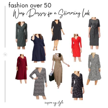 Over 50? A wrap dress is always a slimming look, for casual, formal, or holiday outfits. Find yours right here! #fashionover50 #wrapdress #holidayoutfit #midlifeinspirations #LTKstyletip @liketoknow.it #liketkit Download the LIKEtoKNOW.it app to shop this pic via screenshot http://liketk.it/2ZHYX