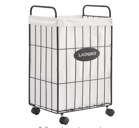 Laundry cart, rolling laundry cart, hamper    #LTKunder100 #LTKsalealert #LTKhome