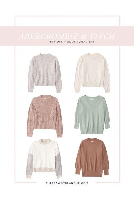 Abercrombie & fitch sale - cozy fall sweats in beautiful colors. I'm a size small.   #LTKstyletip #LTKsalealert #LTKunder50