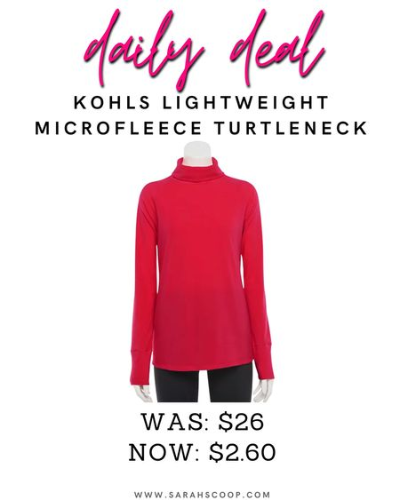 Get cozy on chilly days with this lightweight women's Trek Gear turtleneck that's super soft!❤️ you can save up to 90% off this pullover at Kohls! It was originally priced at $26 but now it's as low as $2.60!  Use code: SHOPFAMILY for an additional 20% off💥 #dailydeals #savetoday #kohls #kohlsclearance #clearance #deals #coupons #ad #pulloever #womensclothes #womensclearance   #LTKSeasonal #LTKsalealert #LTKfit