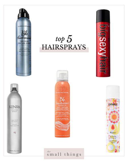 My top 5 hairsprays of all time!   #LTKbeauty #LTKunder50