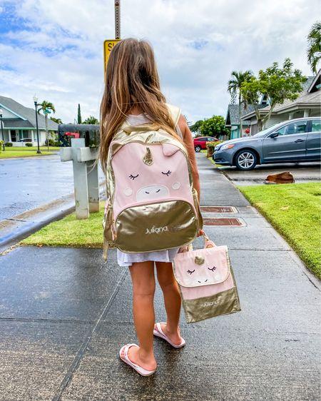 Unicorn backpack and unicorn lunchbox from Pottery Barn Kids http://liketk.it/37nq6 #liketkit #LTKfamily #LTKkids #LTKsalealert @liketoknow.it