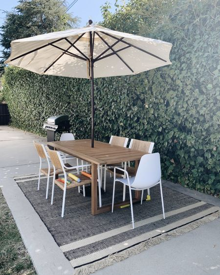Outdoor dining chairs on sale! Outdoor rug on sale! Outdoor dining table. Outdoor umbrella. Best BBQ.   @liketoknow.it http://liketk.it/3iC9M #liketkit #LTKhome #LTKsalealert