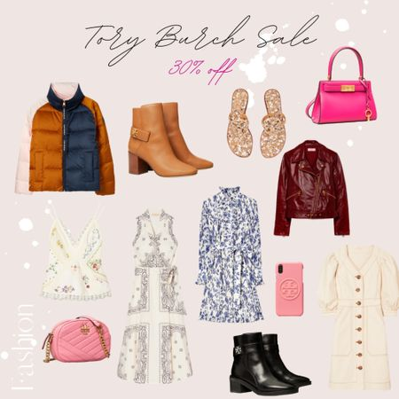 Tory Burch sale- 30% off mark down items!! ✨ | Tory, Tory Burch, handbag, bag, purse, crossbody, Miller sandals, dresses, boots, winter boots, winter coat, phone case, iPhone case, sale, designer sale, tops |  #LTKsalealert #LTKNewYear