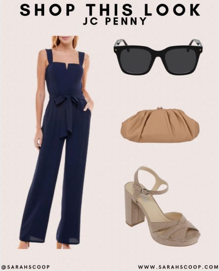 Check out this chic outfit from JC Penny 🤩  #jcp #jcpenny #fashion #style #outfitinspo #inspo #outfit #jumpsuit #chic #accessories #sunglasses #heels #navyblue #clutch  #LTKbeauty #LTKstyletip #LTKunder100