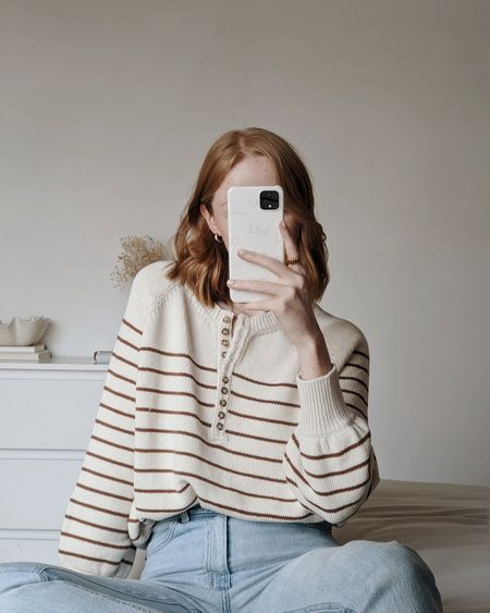 I have wanted this Sézane knit for so long, and now it's in my life, I'm so happy 😍   #LTKSeasonal #LTKeurope #LTKunder100