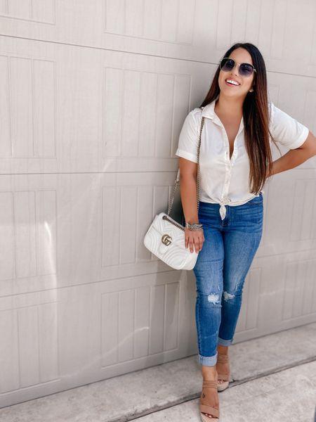 Get this summer chic look 👀  shoes under $50  Bag under $50 ⭐️🤩  #LTKunder50 #LTKshoecrush #LTKstyletip