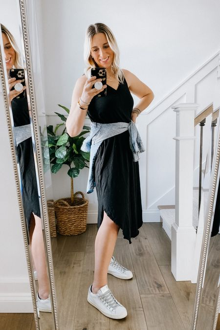Z Supply Reverie dress on sale in stripe and camo. This dress runs a little big. I did not size up, but if you're in between, size down.   #LTKtravel #LTKsalealert #LTKunder50
