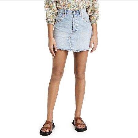 Denim skirt!! Shop it here for less than $50! http://liketk.it/3iftZ #liketkit @liketoknow.it #LTKunder50 #LTKunder100 I