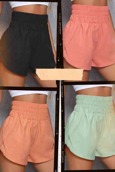 SHEIN workout shorts only $9!!! A total free people DUPE!   #LTKunder50 #LTKstyletip #LTKSale