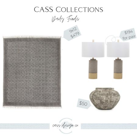 Home decor finds Lamps Area rug Vase Vintage vase Gray Rug   #LTKhome