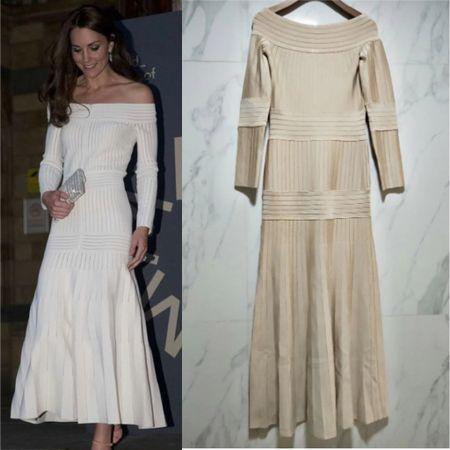 Kate inspired off the shoulder white dress #elegant #bride  #LTKeurope