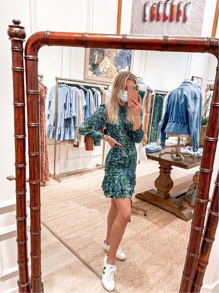 Love my Farha Dress from Veronica Beard! #veronicabeard #vejasneakers #summerdress #falldress #marbleprint #silk #longsleevedress #minidress #rucheddress  #LTKworkwear #LTKstyletip #LTKshoecrush