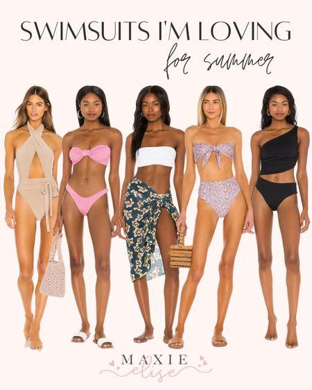 Swimsuits I'm Loving From Revolve 👙  #swimsuits #revolve #summerfashion #swim #revolvevlothing #swimwear #revolveswim #summeressential #beachvacationoutfit #bathingsuit  #LTKSeasonal #LTKstyletip #LTKswim
