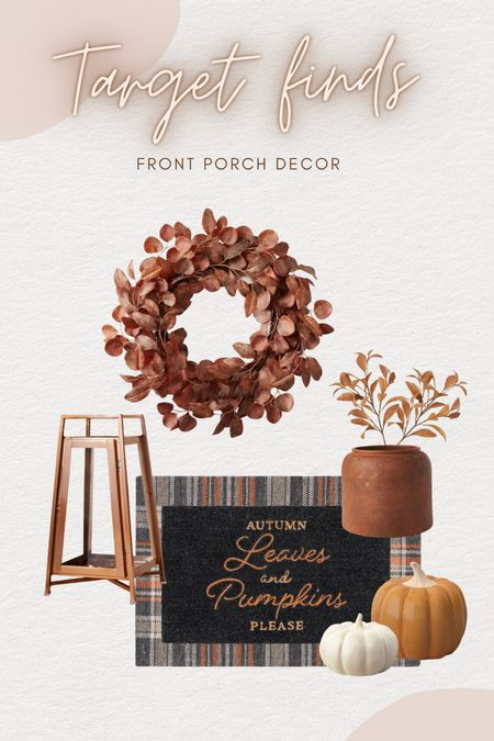 I love a good fall styled porch! 🍁🙌🏼🍂 Target has some really nice pieces for under $50   #LTKSeasonal #LTKhome #LTKunder50