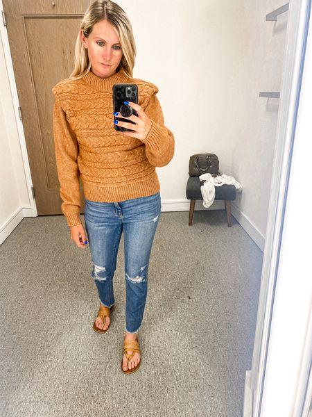 Target cropped jeans Sweater NSale Nordstrom  Anniversary  Fall style Work Office Back to school Teacher  #LTKsalealert #LTKunder100 #LTKunder50