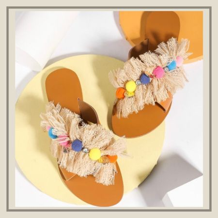 Pom pom slide summer sandals   http://liketk.it/3idAA #liketkit @liketoknow.it #LTKshoecrush #LTKunder50 #LTKstyletip You can instantly shop my looks by following me on the LIKEtoKNOW.it shopping app