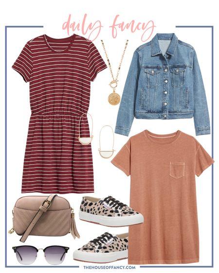 Today's daily fancy is super casual! Love a good Tshirt dress!   #LTKstyletip #LTKSeasonal #LTKunder50