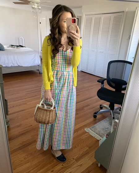 Baby shower dress and wedges - spring outfit - Mother's Day outfit - dress under $60 http://liketk.it/3elFR @liketoknow.it #liketkit