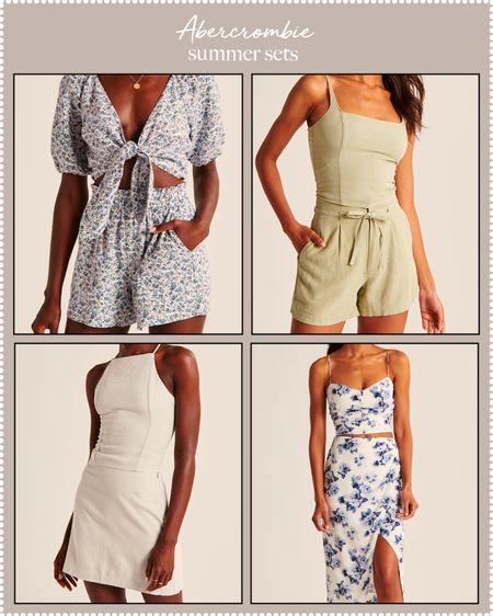 cute summer sets on sale at Abercrombie!   #LTKunder100 #LTKDay #LTKtravel