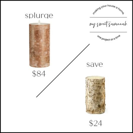 Birch candles are a great home decor staple for a rustic modern farmhouse look. They will look great from fall through winter, and especially during the holidays! Splurge or save? Pottery barn vs amazon home   #LTKsalealert #LTKstyletip #LTKhome