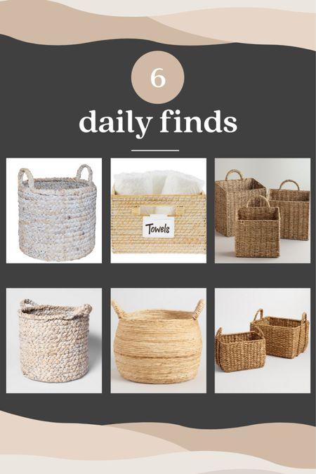 Looking for wicker baskets for your home - here are 6 options.   #LTKunder50 #LTKhome #LTKsalealert