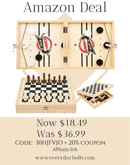 Amazon Deal! 🎁🎄 Foldable Fast Sling Puck Game & Chess 2 in 1 Set, Wooden Hockey Game, Slingshot Board Portable Wooden Game for Kids and Adults 30% off Code:30HJFVJO + 20% coupon  Gift idea • Christmas gift • gifts for her • gifts for him  Gifts for teens • gifts for teen girls • gifts for teen boys • gifts for him   #LTKunder50 #LTKsalealert #LTKGiftGuide