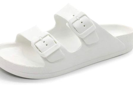 The best casual sandal for summer! I wear them to ball games and take them every time we camp. They're great to slip on for outside around the house and for the pool too. Super easy to clean and they dry very fast! They come in so many colors, but white is what I prefer, just goes with it all! True to size! Also comes in a thong style if you prefer between your toes.   http://liketk.it/3h19Z #liketkit @liketoknow.it   Screenshot this pic to get shoppable product details with the LIKEtoKNOW.it shopping app