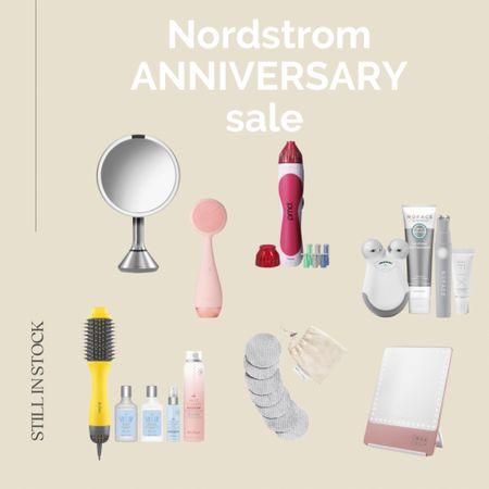 #nsale beauty exclusives still in stock Nordstrom anniversary sale, Nordstrom beauty, beauty sale, beauty tools, makeup mirror, facial cleaner, microderm device, blow dry brush.   #LTKsalealert #LTKbeauty