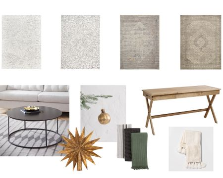 Rugs I love for my home, incredible price on my coffee table, my Christmas items from McGee and Co, favorite desk I own, and best tassel blanket. http://liketk.it/2GuzE @liketoknow.it #liketkit