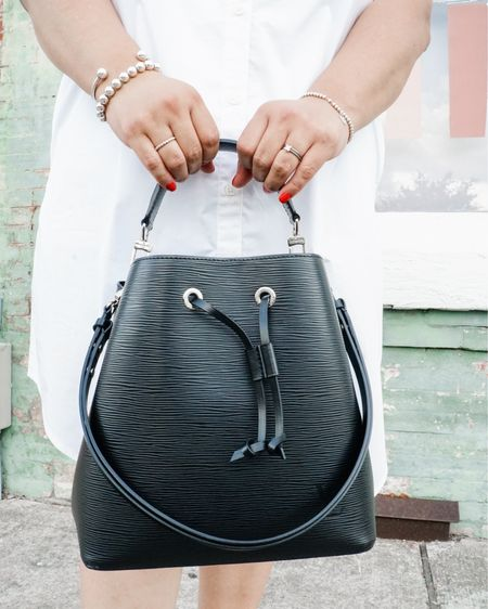 Classic Louis Vuitton bucket bag and a perfect amazon alternative. http://liketk.it/2WFiX @liketoknow.it #liketkit #LTKcurves #LTKitbag #LTKstyletip