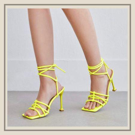 Lace up high heeled sandals   #LTKunder50 #LTKshoecrush #LTKstyletip