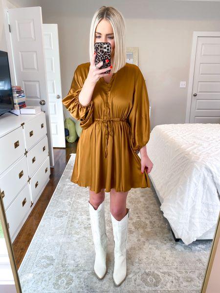 Saints game, gold dress, holiday outfit 15% off with KELSIE15    #LTKSeasonal #LTKHoliday #LTKsalealert