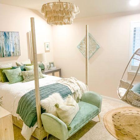 Green Boho Tween Bedroom - Anthropologie Style - Bohemian Girls Room - Dorm idea - Inspiration by @thefunkgypsy  http://liketk.it/2DEhE #liketkit @liketoknow.it Shop my daily looks by following me on the LIKEtoKNOW.it app @liketoknow.it.family #LTKhome