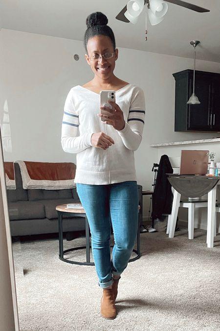 #shirt #jeans #denim #boots #booties #casual #outfit #fall #falloutfit   #LTKstyletip #LTKshoecrush #LTKSeasonal