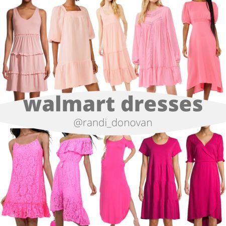 Walmart pink dress collection  http://liketk.it/3fFuI #liketkit @liketoknow.it #LTKunder50 #LTKtravel #LTKwedding