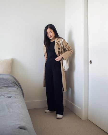 Parisian on the outside, comfy on the inside. Love adding a trench coat to any outfit - especially this one that's like a dressy sweatsuit - for a bit of Parisian flaire.   #LTKstyletip #LTKunder50 #LTKfit